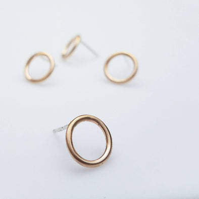 Circle Studs in 14k Gold Fill - Queens Metal