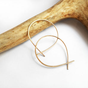 Mini Perfect Hoops in 14K Gold Fill - Queens Metal
