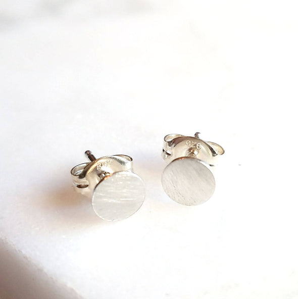 Tiny Round Studs in Sterling Silver - Queens Metal