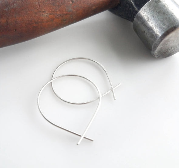 Mini Perfect Hoops in Sterling Silver - Queens Metal