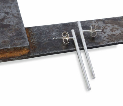 Batten Bar Studs in Sterling Silver - Queens Metal