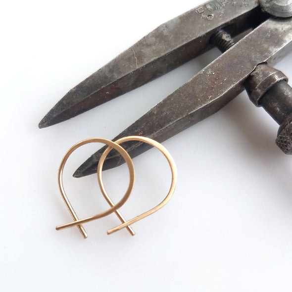 Super Tiny Perfect Hoops in 14K Gold Fill - Queens Metal