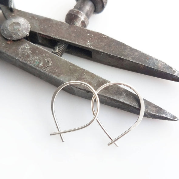 Super Tiny Perfect Hoops in Sterling Silver - Queens Metal