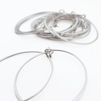 Simple Hoops in Sterling Silver - Queens Metal