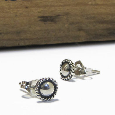 Boho Studs in Sterling Silver - Queens Metal