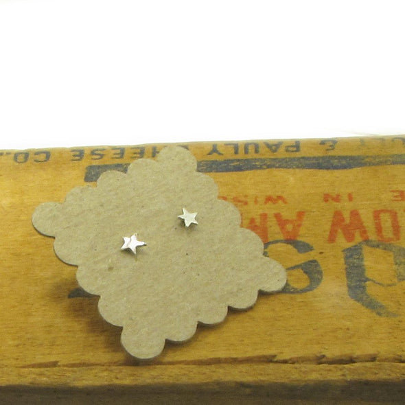 Star Studs in Sterling Silver - Queens Metal