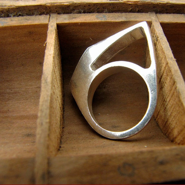 Slice Ring in Sterling Silver - Queens Metal