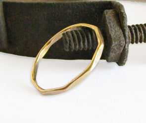 Hammered Stacking Ring in 14K Gold Fill - Queens Metal
