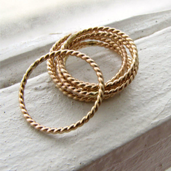 Twist Stacking Ring in 14K Gold Fill - Queens Metal