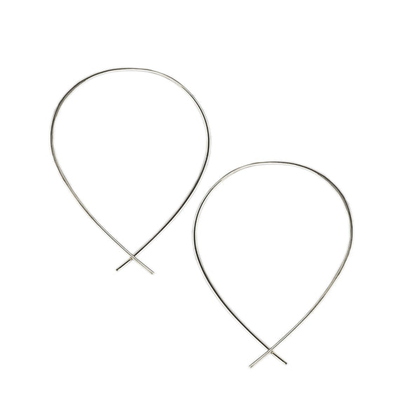 Perfect Hoops in Sterling Silver - Queens Metal