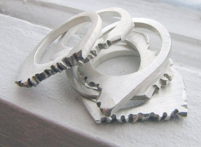 Range Ring in Sterling Silver - Queens Metal