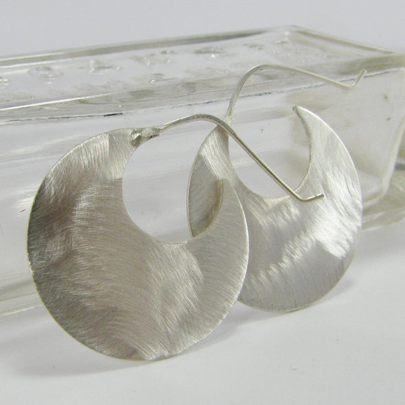 Fab Hoop Earrings in Sterling Silver - Queens Metal
