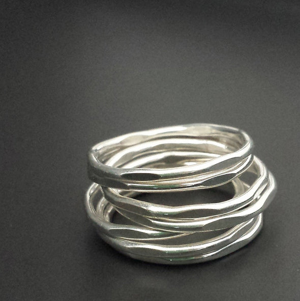 Thin Stacking Ring in Sterling Silver - Queens Metal