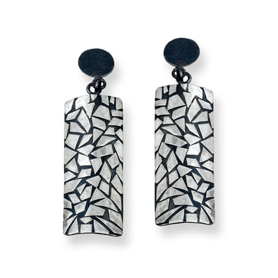 Shatter Earrings in Sterling Silver - Queens Metal
