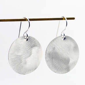 Circle Everyday Earrings in Sterling Silver - Queens Metal