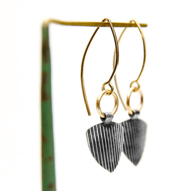 Riley Industrial Earrings in Sterling Silver and 14K Gold Fill - Queens Metal