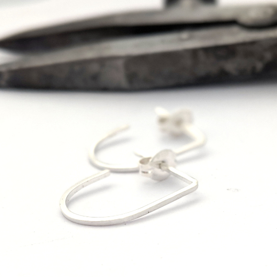 Mini Slim Hoops in Sterling Silver - Queens Metal