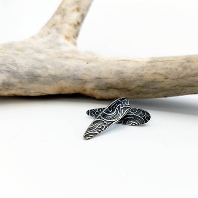 Talon Post Earrings - Sterling Silver Teardrop Studs