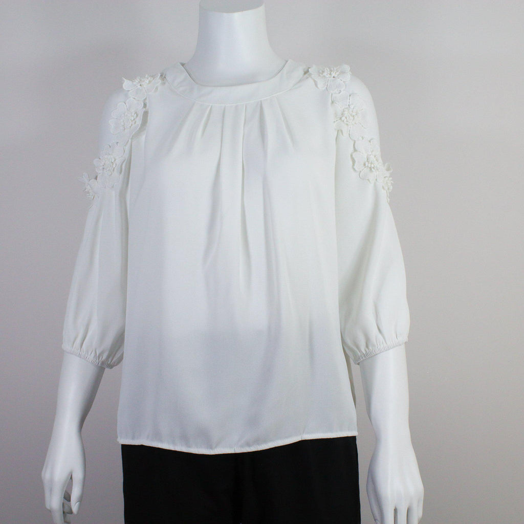 White Lace Cold Shoulder Top-Top Cold Shoulder-ALIPH-S/M-ALIPH