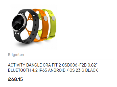 ACTIVITY BANGLE ORA FIT 2