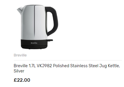 Breville 1.7L VKJ982 Polished Stainless Steel Jug Kettle, Silver