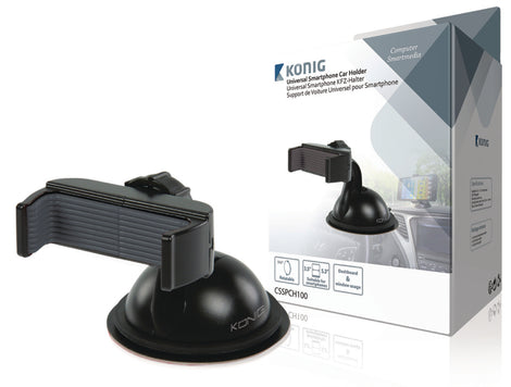 König Universal Smartphone Mount In-Car Window and Dashboard Black