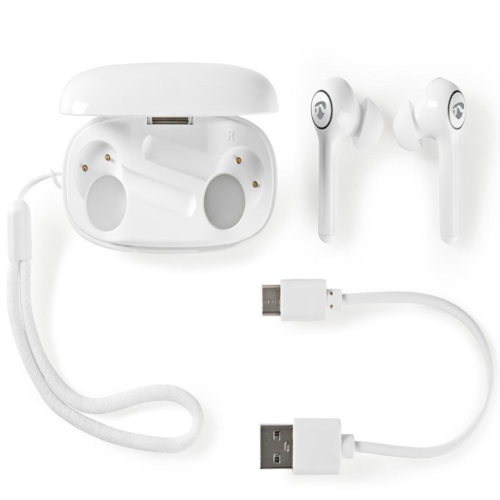 Fully Wireless Bluetooth® Earphones | 6 Hours Playtime | Voice Control | Touch Control | White
