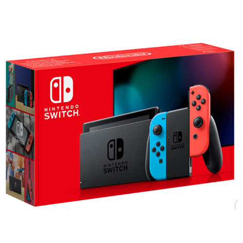 "Nintendo Switch 6,2"" 32 GB Neon Blue Red Joy-Con Controllers, Nintendo video game, nintendo switch controllers, nintendo switch video game"
