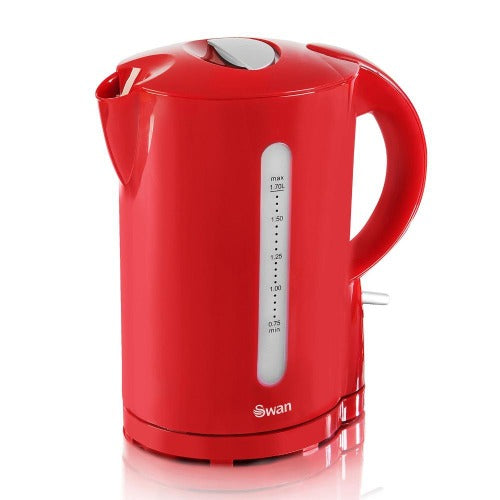 Swan 1.7L Red Cordless Kettle
