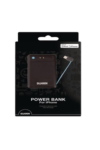 Sweex Portable Power Bank 2500 mAh Apple Lightning Black