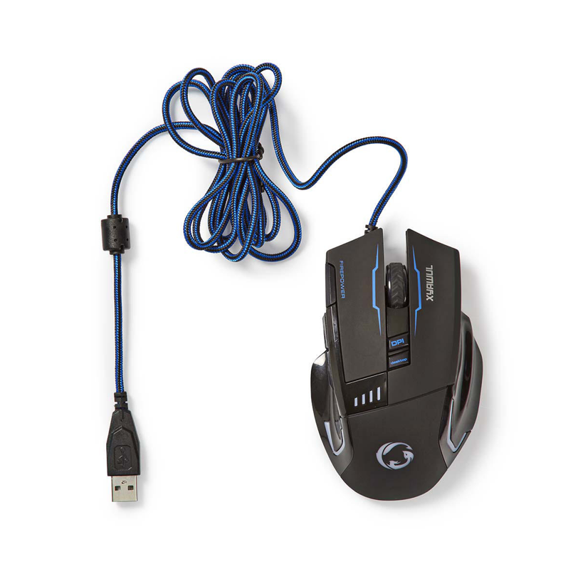 Nedis Gaming Mouse | Wired | Illuminated | 4000 DPI | 8 buttons