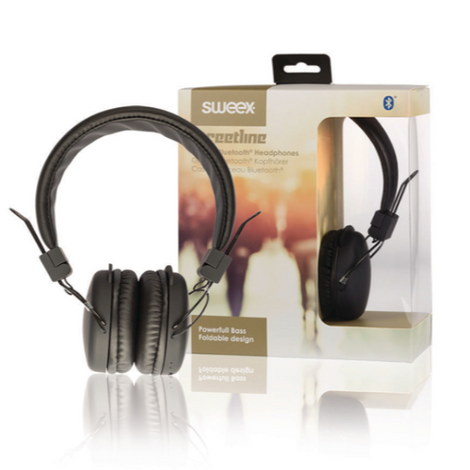 SWeex On-Ear Headphones Bluetooth 1.00 m Black