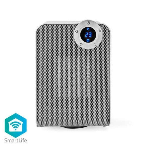 Nedis Wi-Fi Smart Fan Heater | Compact | Thermostat | Oscillation | White