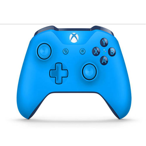 Microsoft Official Xbox One S Wireless Controller - Blue Vortex