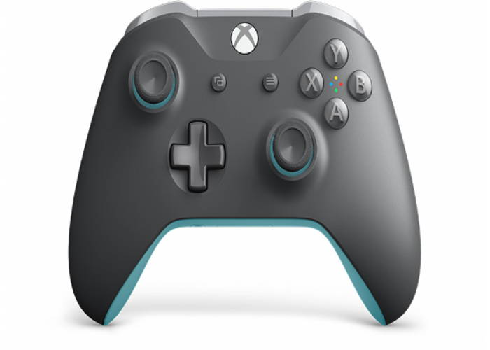 Microsoft Official Xbox One S Wireless Controller - Grey | Blue