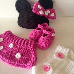 Minnie Mouse Crochet Outfit - Our Precious Moments