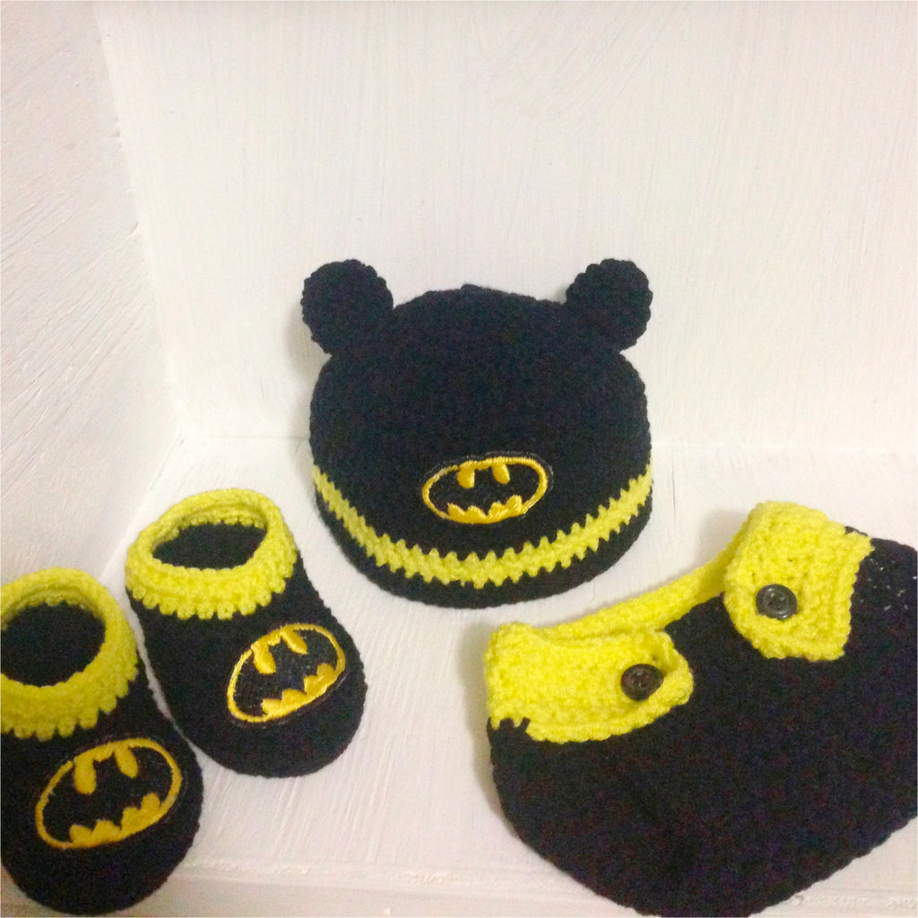Mini Batman Crochet Outfit - Our Precious Moments