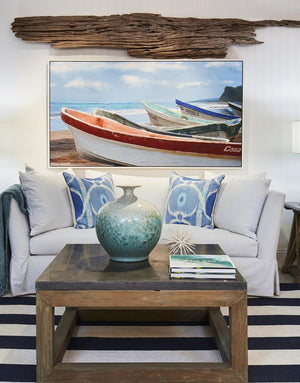 Design Tips: How to give a blank wall big coastal style