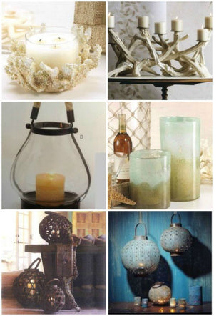 New in the shop: Coastal lanterns candles