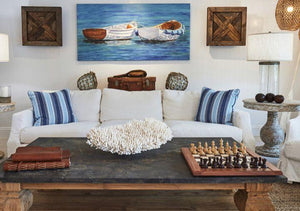 Inspirations On The Horizon: Beachy Blue And White Coastal Living Rooms