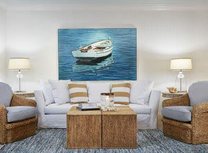 Coastal Room Of The Day: Beach House Driftwood Living Room