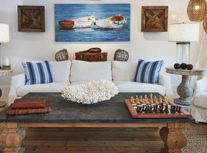 Knot This But That: Slipcover Aqua Beach Living