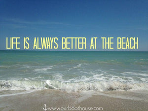 Coastal quote: Life is always better at the beach