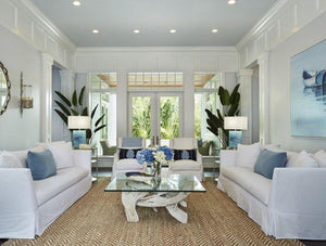 Room Of The Day: Coastal Blue White Beach House Foyer