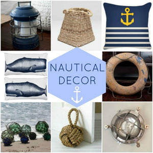 Round up of Nautical decor at Our Boat House