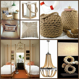 Round Up: Beachy Rope Decor Furnishings