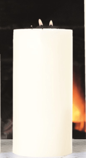 "Maester 3-Wick 5"" Diametet Pillar Candle - Four Heights Available Candle 5"" x 10"""