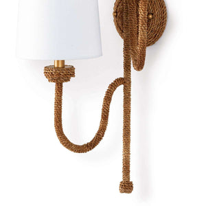 Woven Rattan Sconce - Double Sconce