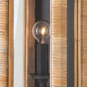 Bamboo & Glass Sconce Sconce