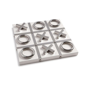 White and Silver Tic Tac Toe Game